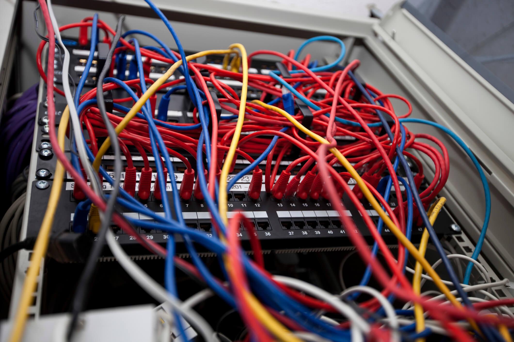 messy on premises servers
